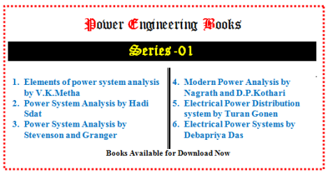 Power Engineering Books (Series-01)
